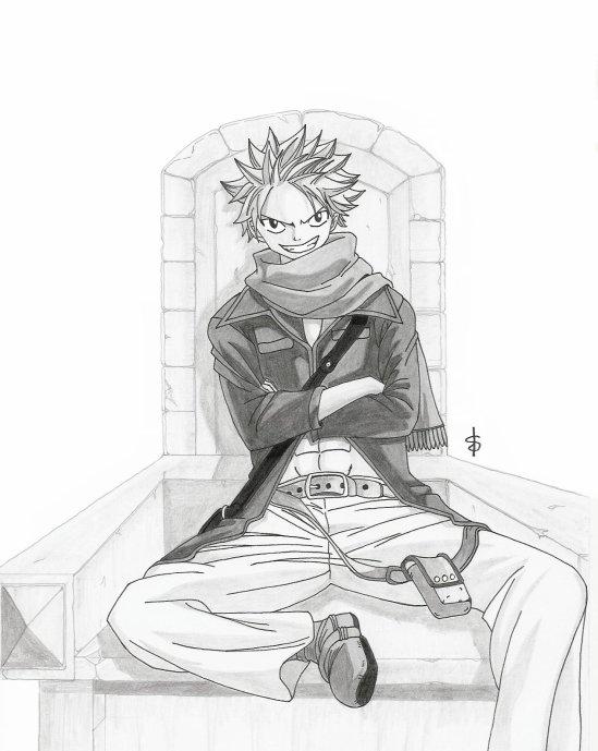 Natsu de fairy tail mes dessins mangas - Dessin de fairy tail ...