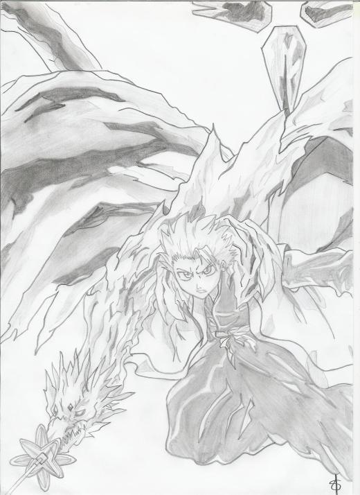 Toshiro Hitsugaya en Bankai Mes dessins mangas